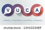 vuca is volatility  uncertainty ... | Shutterstock .eps vector #1341023489