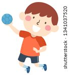 illustration of a kid boy... | Shutterstock .eps vector #1341037520