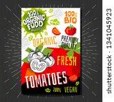 food labels stickers set... | Shutterstock .eps vector #1341045923