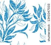 vector seamless floral grunge... | Shutterstock .eps vector #1341047033