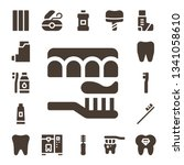 oral icon set. 17 filled oral... | Shutterstock .eps vector #1341058610