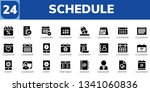 schedule icon set. 24 filled... | Shutterstock .eps vector #1341060836