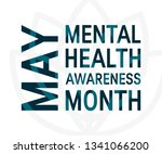 mental health awareness month...   Shutterstock .eps vector #1341066200