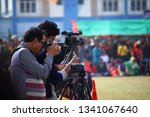 Small photo of Coochbehar, West Bengal, India, January 26, 2019: Bevy of photographers cover Respublic Day 2019 with rapt attention