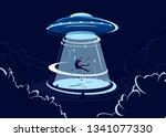 vector illustration of ufo... | Shutterstock .eps vector #1341077330