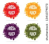 vector colorful juice splash... | Shutterstock .eps vector #1341079073