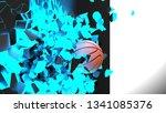 baseball breaking with great... | Shutterstock . vector #1341085376