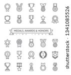 collection of medal  awards ... | Shutterstock .eps vector #1341085526