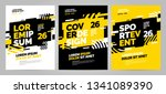 yellow layout design template... | Shutterstock .eps vector #1341089390
