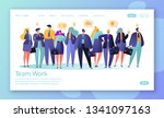 concept of landing page for... | Shutterstock .eps vector #1341097163