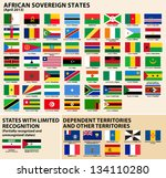 set of flags of sovereign... | Shutterstock . vector #134110280