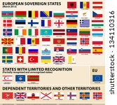 set of flags of european... | Shutterstock . vector #134110316