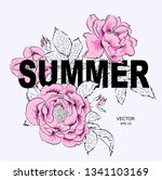 floral print for clothes.... | Shutterstock .eps vector #1341103169