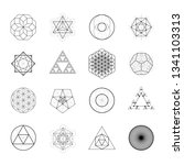 sacred geometry vector design... | Shutterstock .eps vector #1341103313
