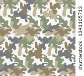 texture camouflage military... | Shutterstock .eps vector #1341105713