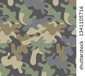 texture camouflage military... | Shutterstock .eps vector #1341105716
