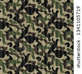 texture camouflage military... | Shutterstock .eps vector #1341105719