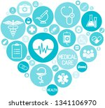 set of medical icons on... | Shutterstock .eps vector #1341106970