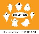 happy halloween  ghost  scary... | Shutterstock .eps vector #1341107540