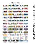 U.s. Army Award Medal Ribbons....