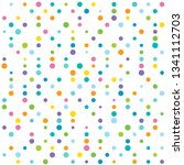 abstract vector colorful dotted ... | Shutterstock .eps vector #1341112703