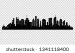 silhouette of city with black... | Shutterstock . vector #1341118400