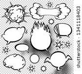 comic style speech bubbles... | Shutterstock . vector #1341118403