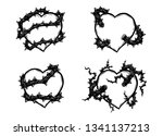heart with rose vine vector by... | Shutterstock .eps vector #1341137213