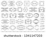calligraphic design elements .... | Shutterstock .eps vector #1341147203