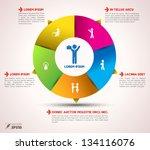vector  circle loop business... | Shutterstock .eps vector #134116076