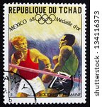 chad   circa 1969  a stamp... | Shutterstock . vector #134116373