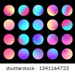 rounded holographic gradient... | Shutterstock .eps vector #1341164723