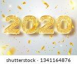 2020 happy new year confetti... | Shutterstock .eps vector #1341164876