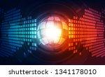 abstract digital technology... | Shutterstock .eps vector #1341178010