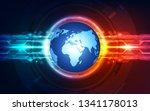 abstract digital technology... | Shutterstock .eps vector #1341178013