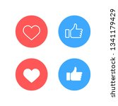 facebook thumbs up and... | Shutterstock .eps vector #1341179429
