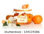 orange jam with zest and... | Shutterstock . vector #134119286
