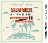 retro card. summer offers. | Shutterstock .eps vector #134119400