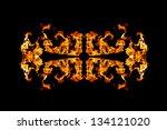 Fire Patern Kaleidoscope Over...