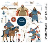 The Mongols. Set Mongol Nomad...