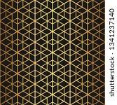 golden texture. geometric thin...   Shutterstock .eps vector #1341237140