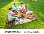 group of young attractive...   Shutterstock . vector #134123828