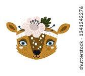 vector deer face animal clipart ... | Shutterstock .eps vector #1341242276