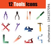 set of tools icons. full color...