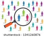 social sampling crowd | Shutterstock .eps vector #1341260876