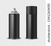 vector 3d realistic black blank ... | Shutterstock .eps vector #1341263450