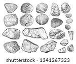 rock illustration  drawing ... | Shutterstock .eps vector #1341267323