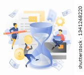 tax payment in time vector... | Shutterstock .eps vector #1341268220