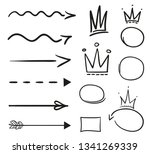 infographic elements on... | Shutterstock . vector #1341269339