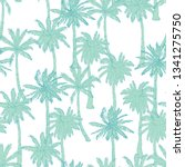 palm tree pattern. seamless... | Shutterstock .eps vector #1341275750